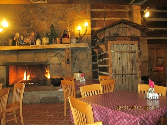 inside the fireplace picture of log cabin pancake house Log Cabin Pancake House Pigeon Forge