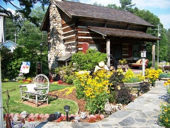 landscape ideas for our log home home landscaping cabins Cabin Landscaping Ideas