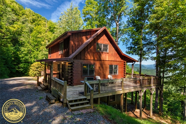 secluded nc mountain cabin rental carolina mountain vacations Log Cabins For Rent In Nc