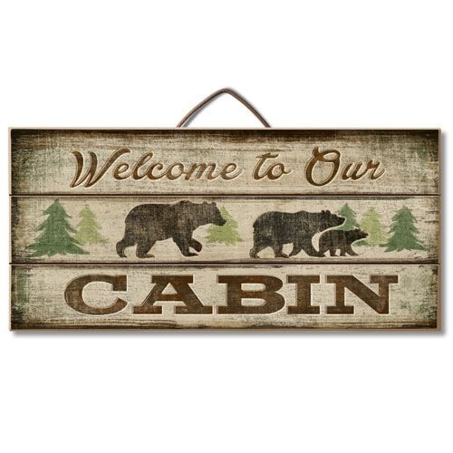 welcome to our cabin sign rustic cabin decor lodge Cabin Sign Ideas