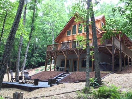 whispering trees log cabin secluded wnc vacation rental Cabins Near Biltmore Estate