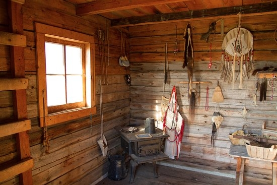 wood burning stove no chimney in the log cabin and ladder Cabin Wood Stove