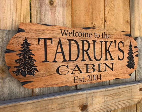 wood signs ideas red cedar wood working cabin signs Cabin Sign Ideas