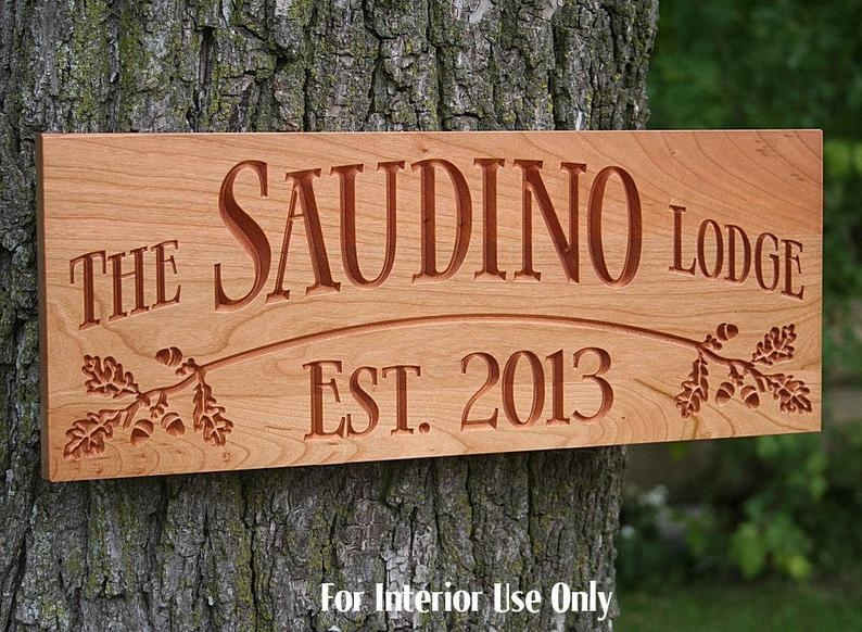 wooden carved sign tree house cabin decor lake house sign custom carved plaque personalized sign christmas gift ideas benchmark signs ob c Cabin Sign Ideas