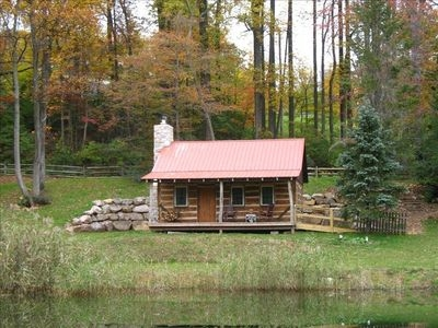 1800s restored log cabin in woods 15 min off pa turnpike narvon Pet Friendly Cabins In Pa