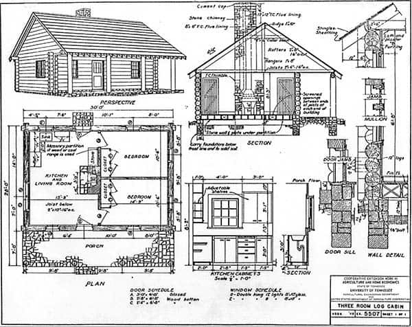 52 free diy cabin and tiny home blueprints Small Cabin Blueprints