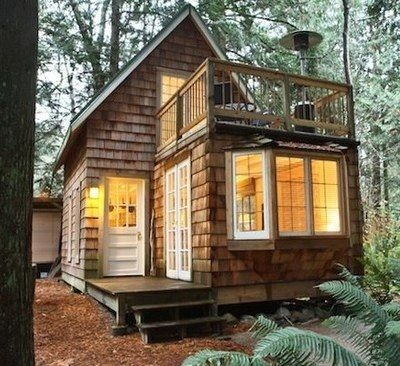 a tiny cabin with balcony and small space ideas galore Small Cabin Houses