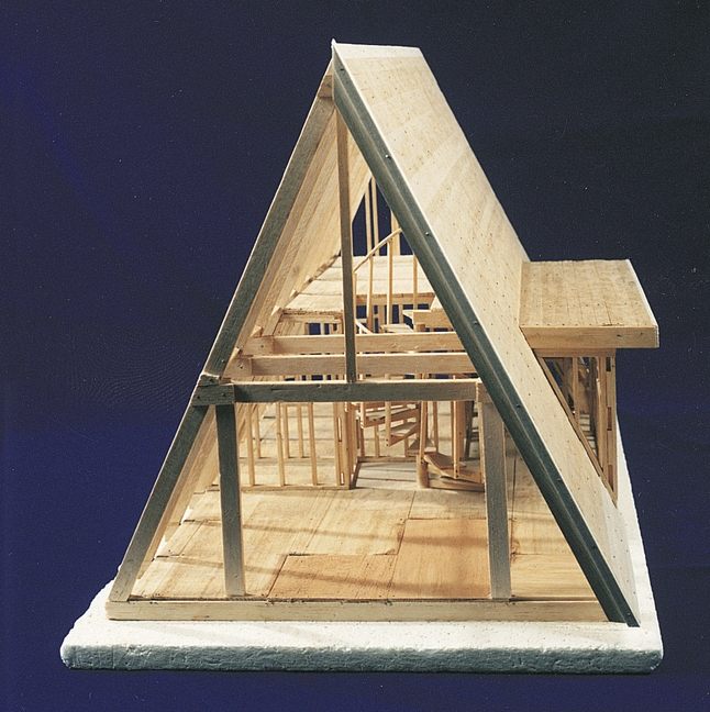 brodhead garrett a frame house model kit 6 drawings ages 8 and up wood A Frame Cabin Kit