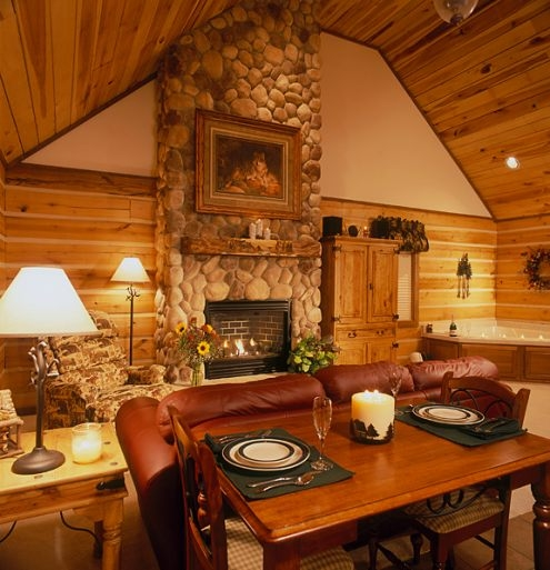 cabins and candlelight a romantic log cabin getaway nw of Romantic Cabins In Indiana