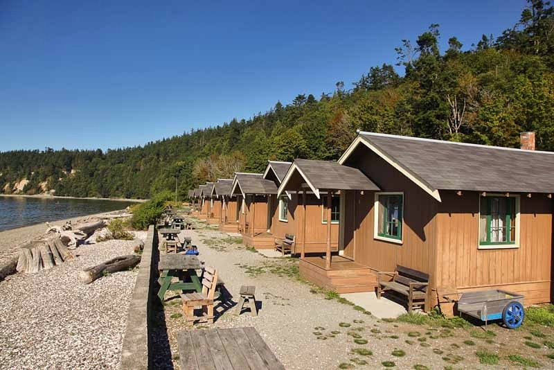 cama beach state park cabins whidbey and camano islands Whidbey Island Cabins