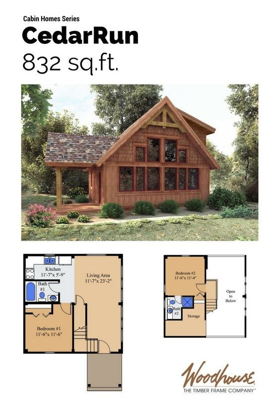 cedarrun in 2019 small cabin plans cabin plans with loft 2 Bedroom Cabin With Loft Plans