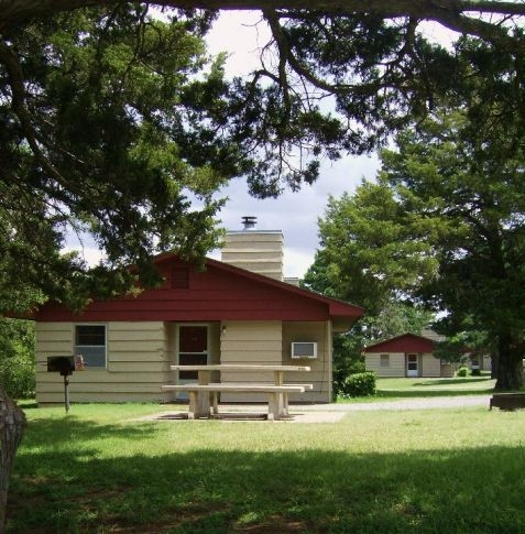 check into your roman nose state park cabin or lodge room on Roman Nose Cabins