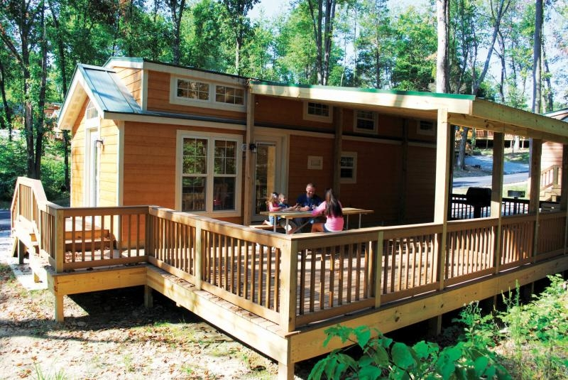 christmas cabin in lake rudolph campground and rv resort Holiday World Cabins