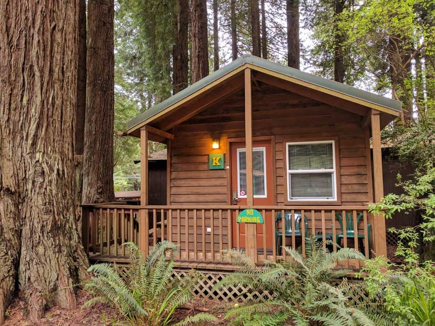 emerald forest cabins rv Redwood National Park Cabins