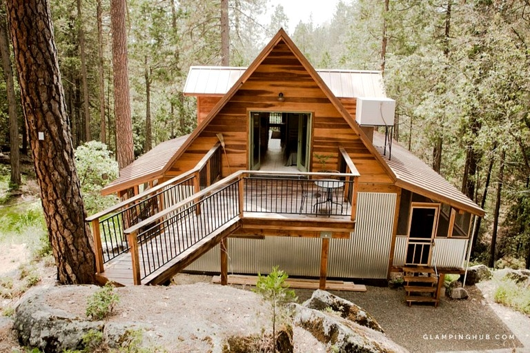 gorgeous woodland cabin rental with wi fi near yosemite national park california Yosemite National Park Cabins