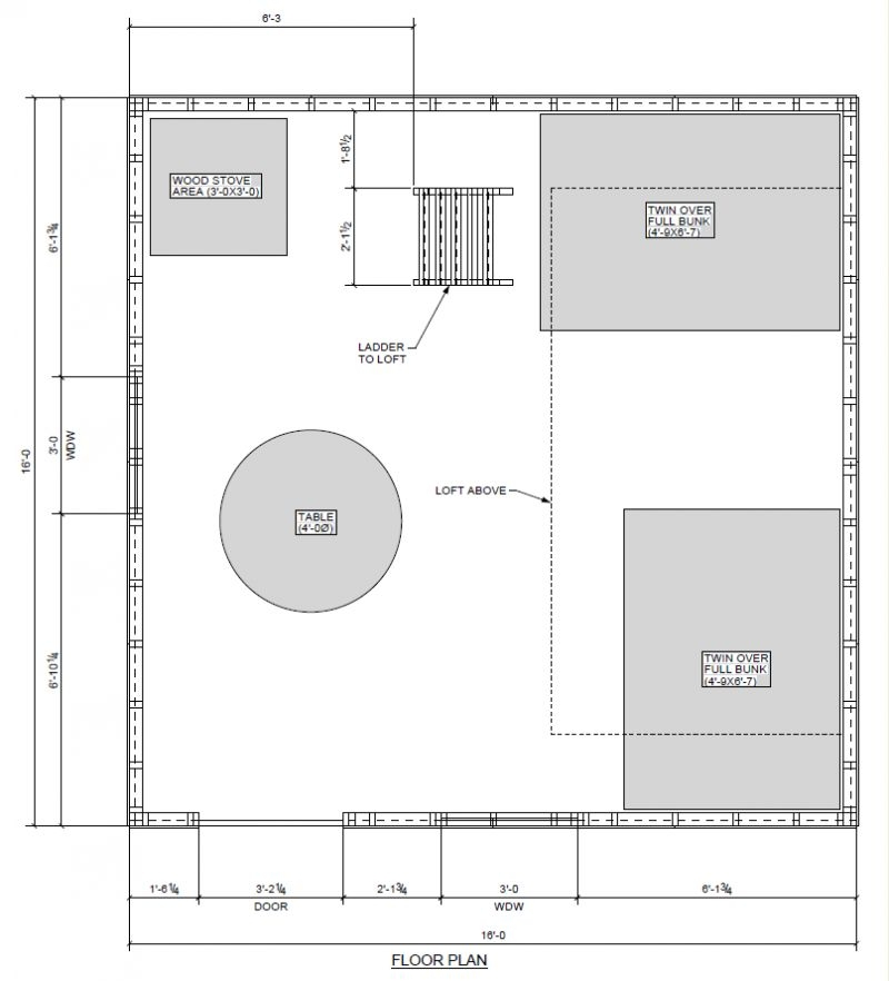 help with my 16x16 layout small cabin forum 16 X 16 Cabin Plans