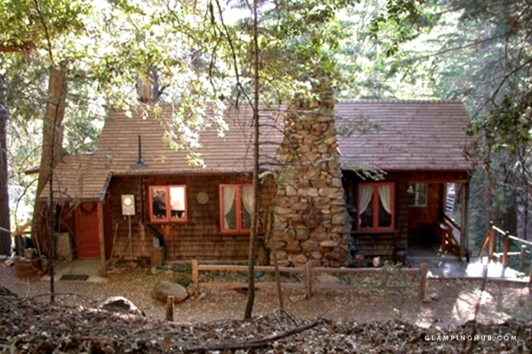 historic holiday redwood cabin in palomar mountain california Palomar Mountain Cabins