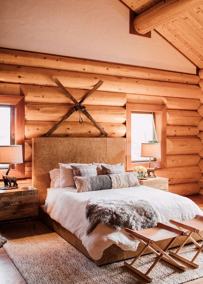 if our home looked like this cozy log cabin wed never Modern Log Cabin Decor