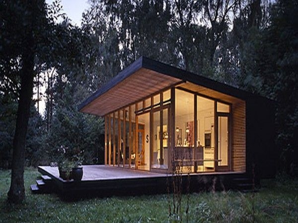 lean to encore une fois modern small house design small Modern Cabin Plans