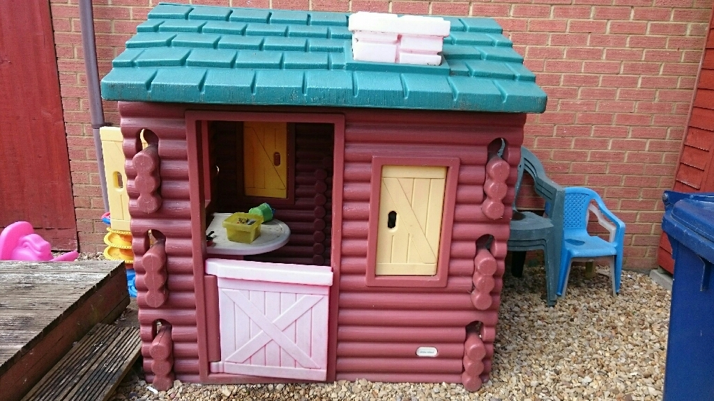 little tikes log cabin playhouse Little Tikes Log Cabin Playhouse
