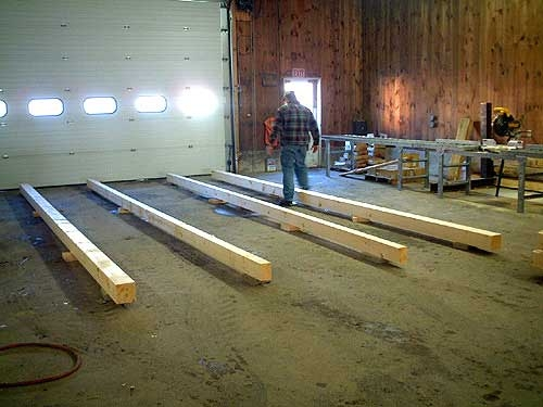 log cabin kit construction steps merrimac log homes Log Cabin On Skids