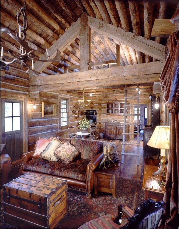 love this small cabin with a loft make mine rustic pinterest Cabin Loft Pintrest