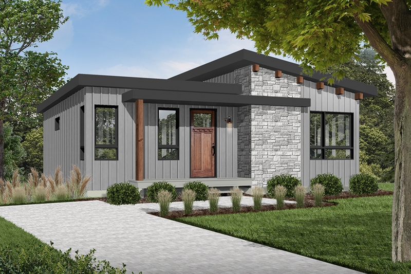 meade modern cabin plan 032d 0834 house plans and more Modern Cabin Plans