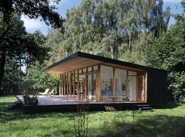 modern forest cabin in zealand island adorable home in Forest Cabin Designs