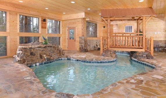 pigeon forge cabins copper river 3 bedroom 3 bathroom Tennessee Cabins With Indoor Pool