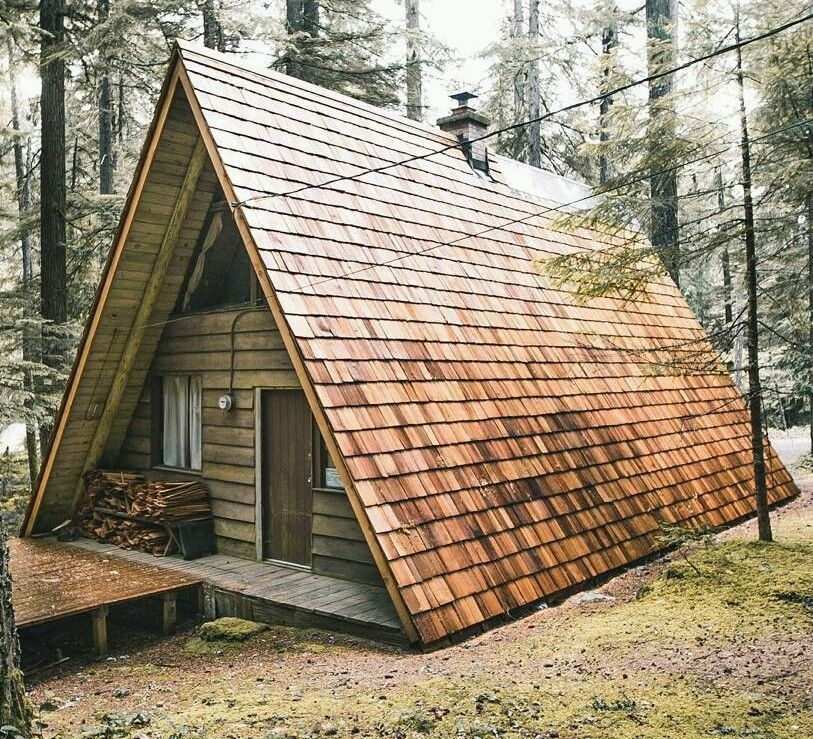 prefab a frame cabin home tiny house hunting cabin off grid A Frame Cabin Kit
