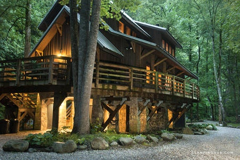 secluded riverfront cabin in the heart of nantahala national forest north carolina Riverfront Cabins