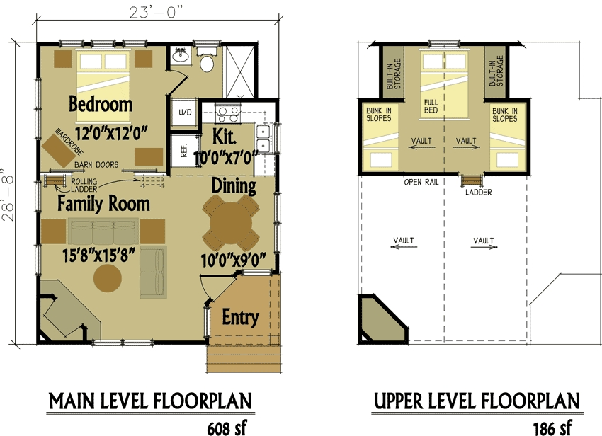 small cabin designs with loft small cabin floor plans Small Cabin Blueprints