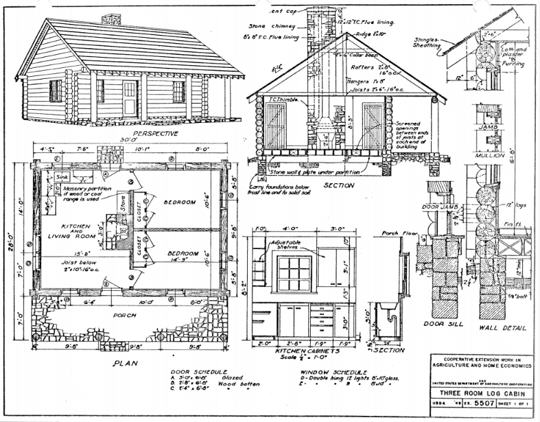 small cabin plans Small Cabin Blueprints