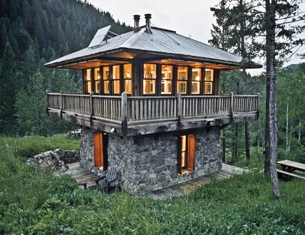 small two story cabin stone two story lookout small cabin Small Stone Cabin
