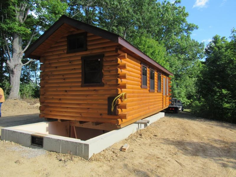 trophy amish cabins llc delivery Log Cabin On Skids