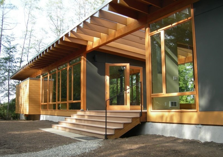 v c architects portfolio residential whidbey island Whidbey Island Cabins