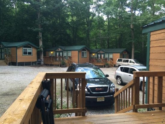 view of other cabins from our cabin picture of Williamsburg Cabins