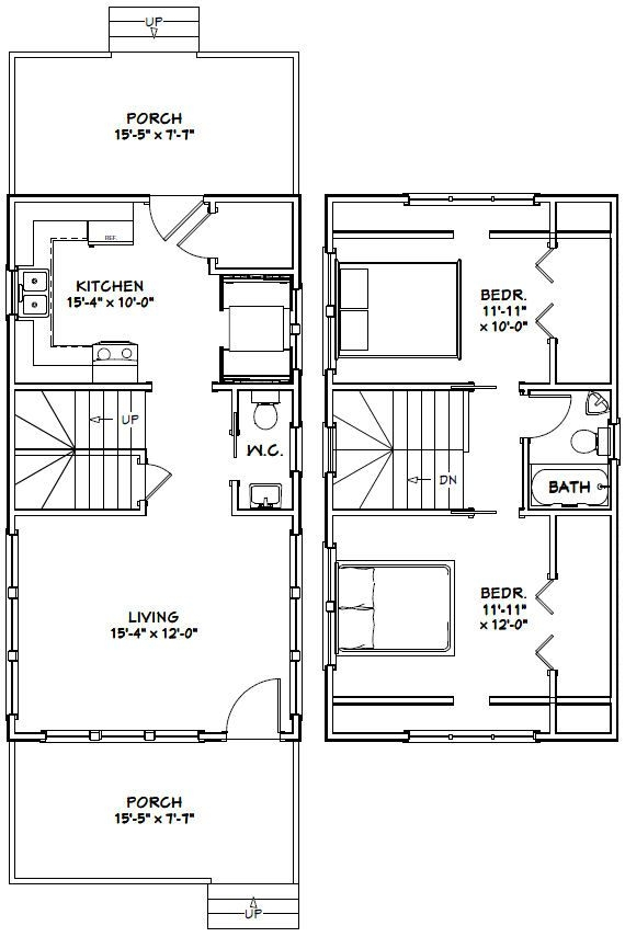 16x30 house 16x30h8s 878 sq ft excellent floor 16x30 Small Cabin Plans