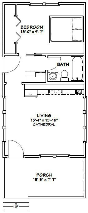 16x30 tiny house 16x30h2 480 sq ft excellent floor 16x30 Small Cabin Plans