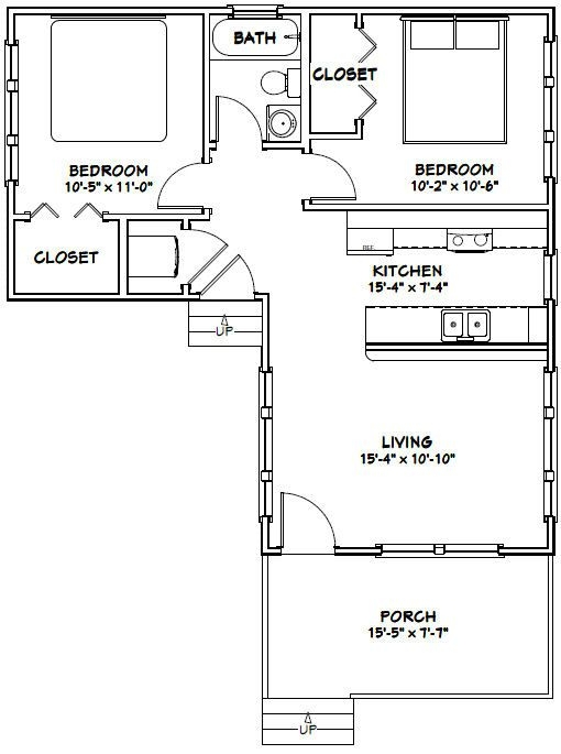 16x30 tiny house 16x30h4f 705 sq ft excellent floor 16x30 Small Cabin Plans
