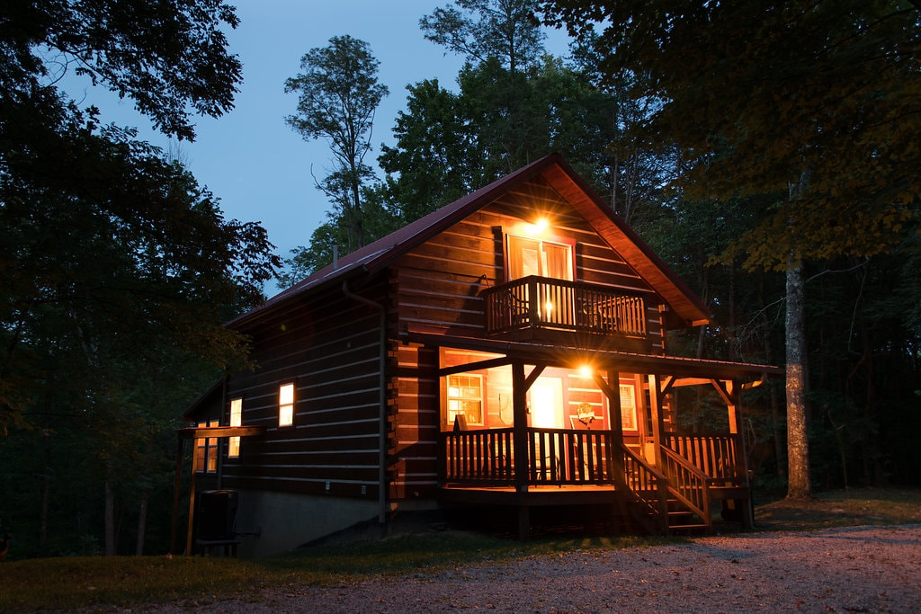 ash cabins romantic peaceful and secluded Cabins Columbus Ohio