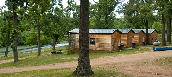 cabins campsites at family resort south fork of the spring Spring River Arkansas Cabins