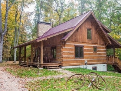 chimney log cabin in brown county our honeymoon cabin rustic Brown County Cabins Pet Friendly