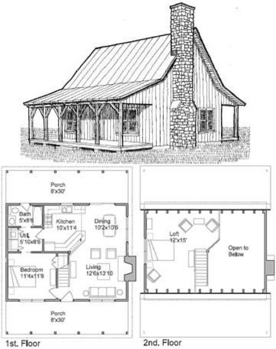 Permalink to Small Cabin Floor Plans With Loft