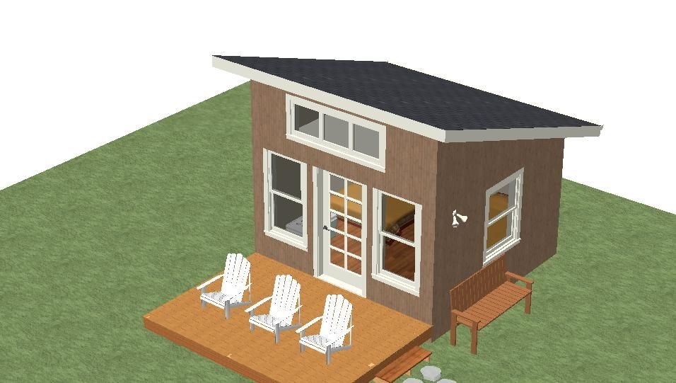 micro cabin unit one 12×12 shelter kit and deck 9×12 12×12 Cabin With Loft