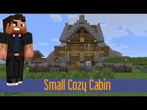 minecraft how to build a small medieval rustic log cabin house 2 Minecraft Rustic Cabin