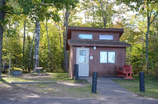 mini cabin picture of mclain state park campground Michigan State Parks Cabins