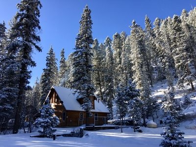 picture perfect red river mountain cabin along creek4th nt free forest out back red river Cabins In Red River Nm