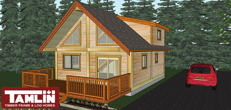 post beam log cabin special tamlin homes timber frame 12x12 Cabin With Loft