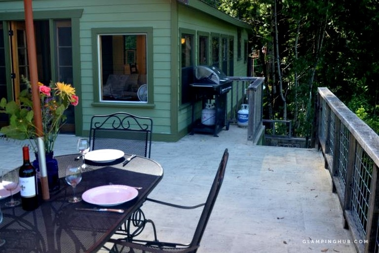 radiant cabin rental perched above the russian river in forestville california Russian River Cabins